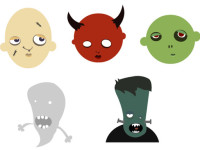 Free-Vector-Halloween-Heads