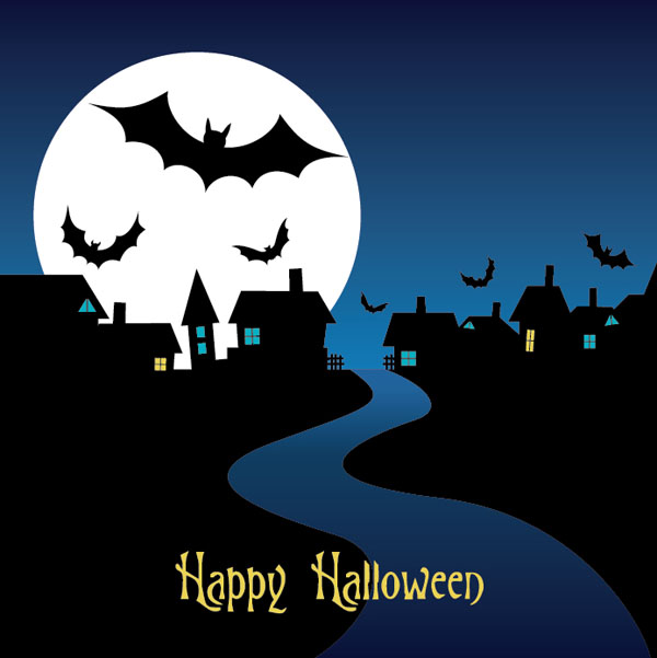 Halloween-Night-Card-Vector