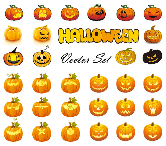 Halloween-Pumpkins-Mixed-Mega-Vector
