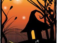 Halloween-card-with-pumpkins