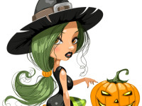 Pretty-Witch-with-Halloween
