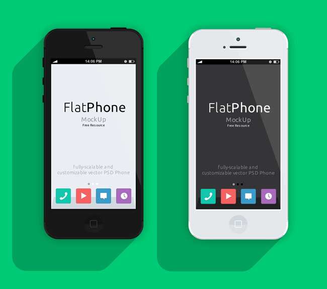 iPhone 5-Psd-Flat-Design-Mockup