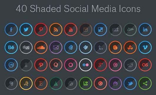 40-Free-Shaded-Social-Media-Icons