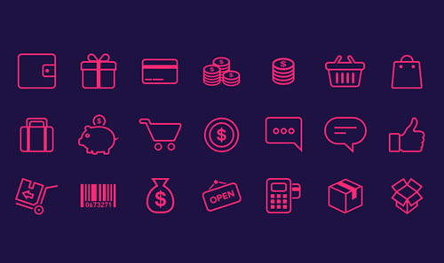 21-e-commerce-Icons-freebie