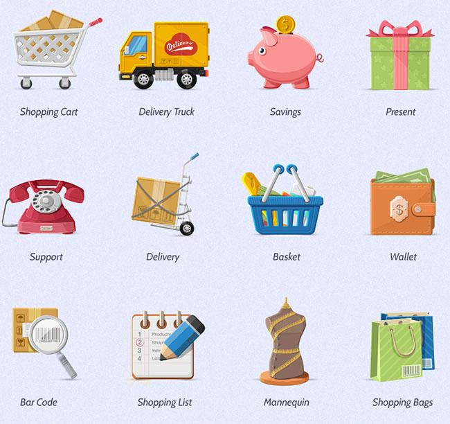 Charming-Boutique-Icon-Set