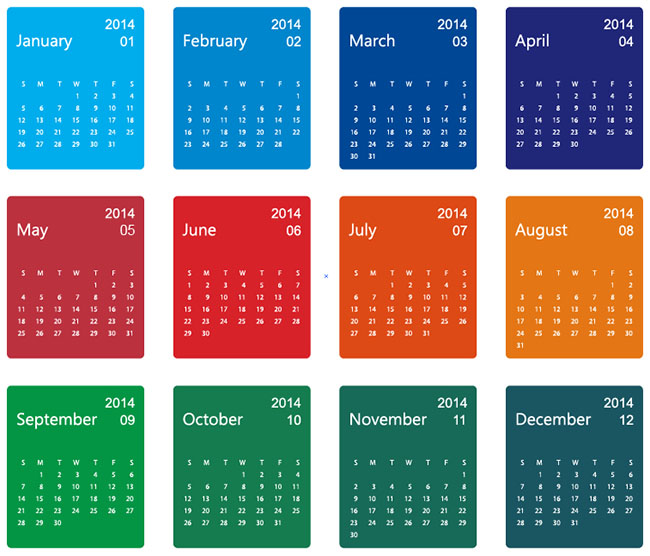 Colorful-Design-2014-Calendar-Vector