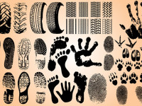 Hand-Foot-Tire-Track-Prints-Vector-Set