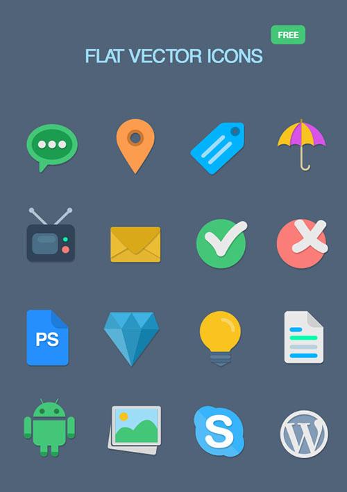 16-Free-Flat-Icons