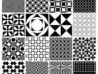 Monochrome-Panton-Patterns
