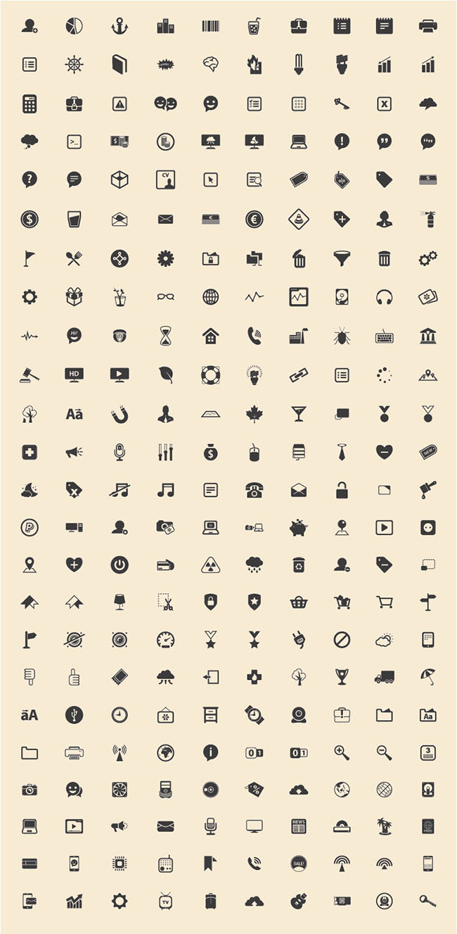 240-Basic-Icons-Vector-Freebie