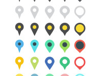 30-Map-Marker-Vector-Icons