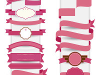 Pink-Ribbon-decorative-template