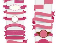 Pink-Ribbon-decorative-template