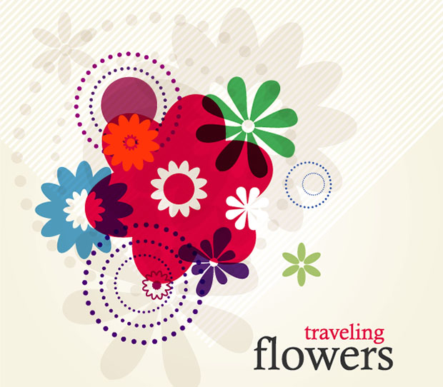 Traveling-Flowers-Vector