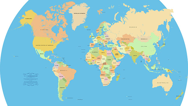 Accurate-Vector-World-Map