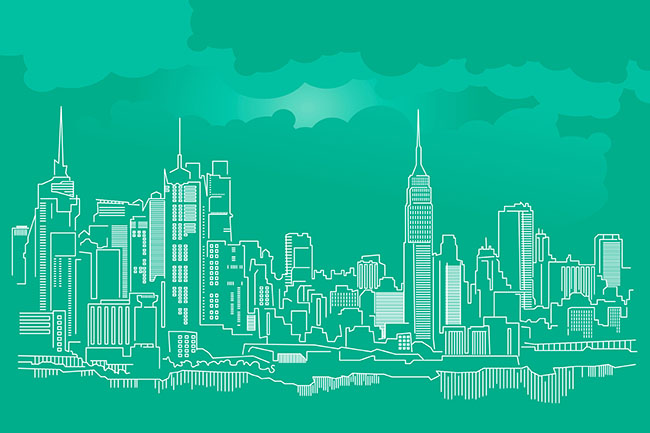 New York City Skyline Presentation Folder Template Free