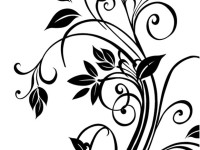 Vector-cdr-floral-Free-vector