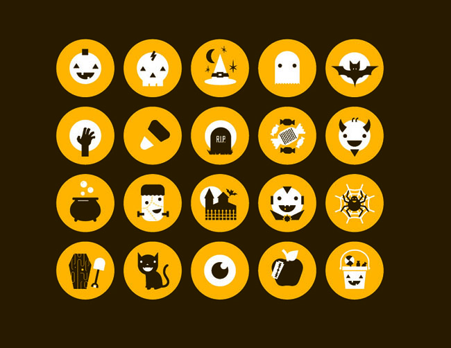 20-Circle-Flat-Design-Halloween-Icons