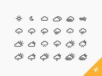 24-Weather-Icons