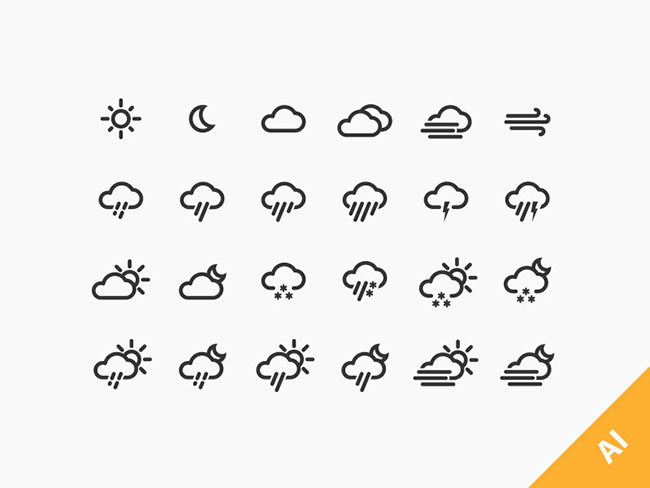 24-Weather-Icons