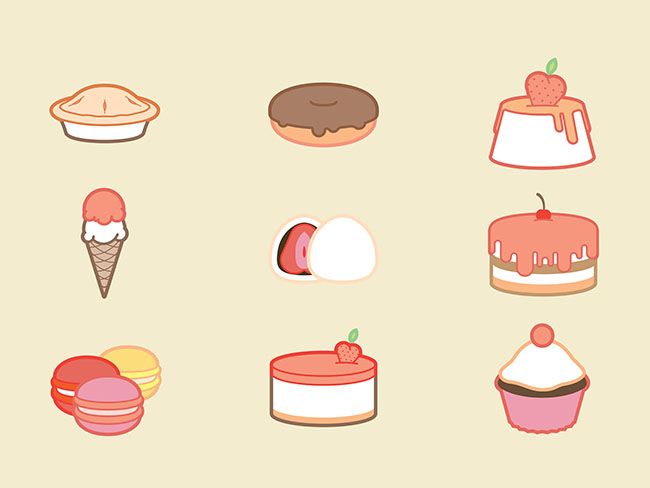 9-Free-sweets-desserts-icon-set