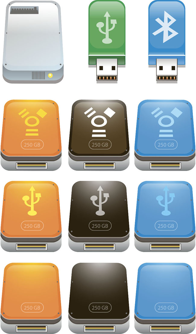 Usb-Flash-Drive-Icons