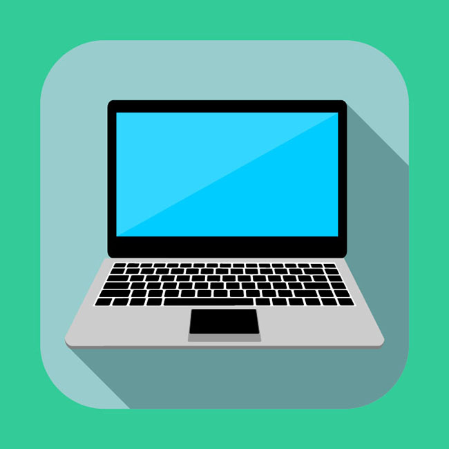 Flat laptop icon - Free Vector Site | Download Free Vector ... Laptop Vector Illustration