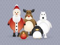 Free-Christmas-Themed-Cute-Vector-Character-Pack