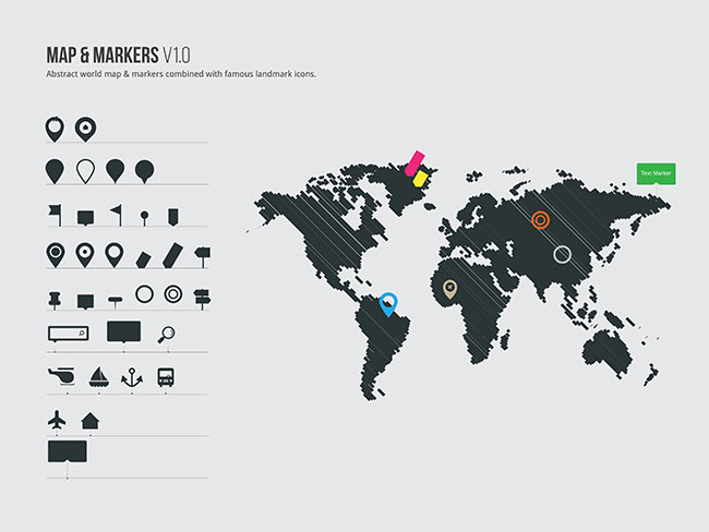 Vector world map markers free vector site download free others vector world map markers gumiabroncs Image collections
