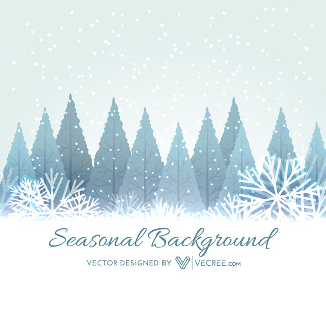 Winter-Seasonal-Background-Free-Vector