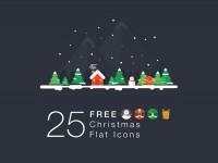 25-Christmas-Flat-Icons