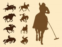 Equestrian-Sports-Silhouettes