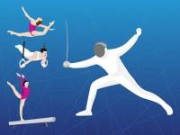 Olympic-fencing-gymnastics