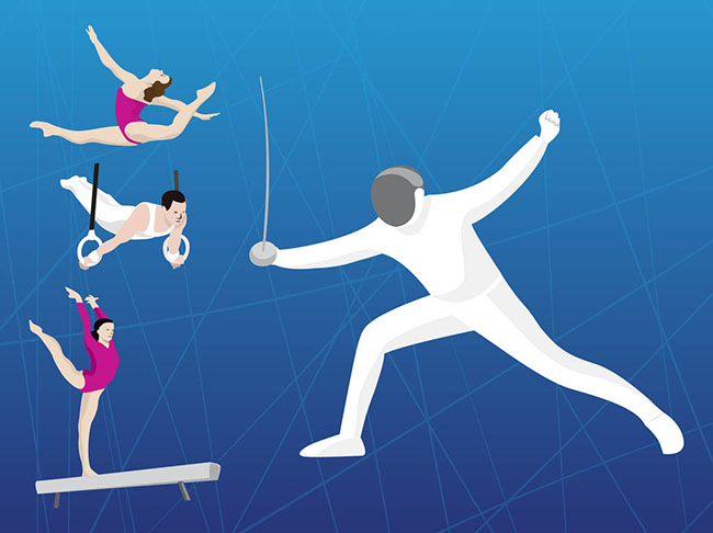 Olympic-fencing-gymnastics