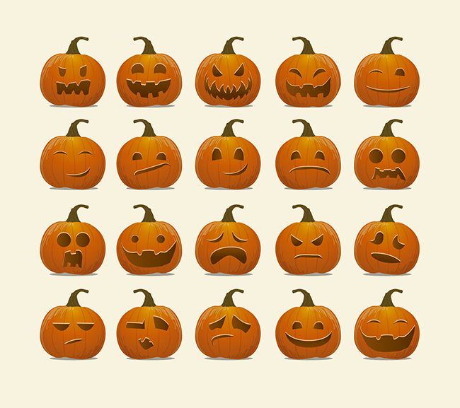 Halloween-Pumpkin-emoticons