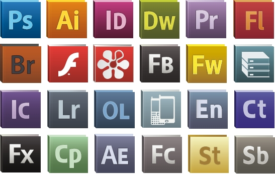 24 adobe cs5 logo icons - free vector site | download free vector