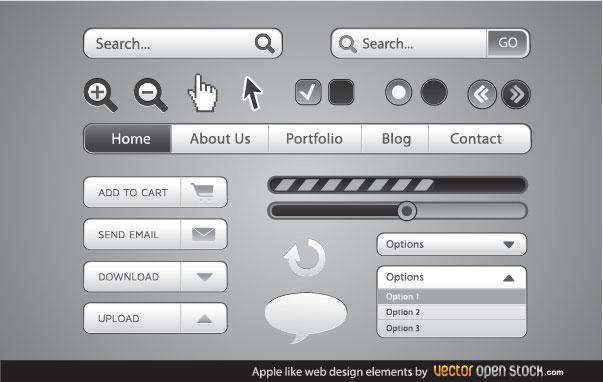 Apple-Like-Web-Design-Elements-Vector