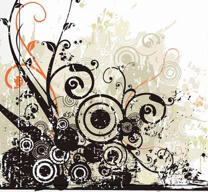 Black-Flowers-Swirls-Vector-Illustration