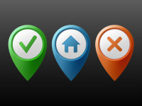Colors-Location-Markers-Buttons-Vector