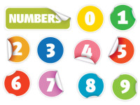 Digital-Vectors-Number-Stickers