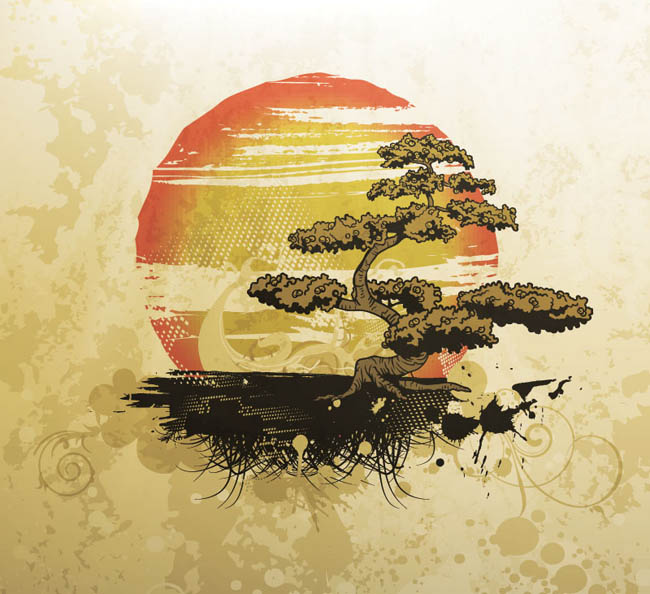 Free-Dirt-Vector-Vintage-Illustration-with-Bonsai