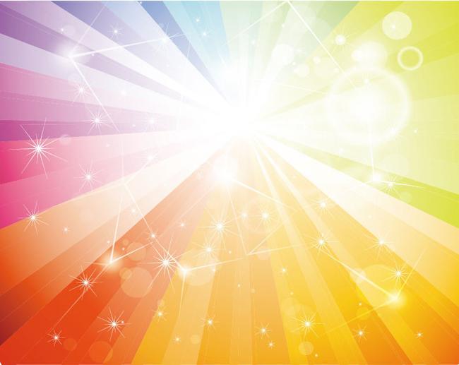 Free-Rainbow-Galaxy-Vector-Background