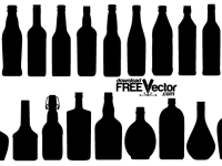 Free-Vector-Collection-Bottle-Silhouettes