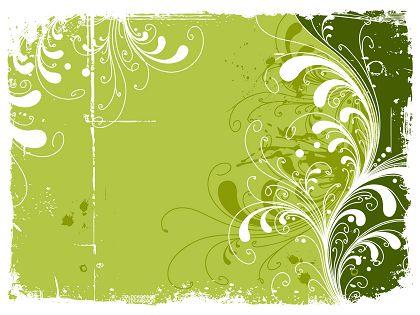 Trend-Green-Flowers-Pattern-Vector