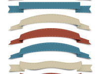 Vector-Retro-Ribbon-Set