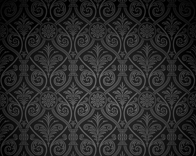 Vintage-Vector-Dark-Damask-Pattern-Background
