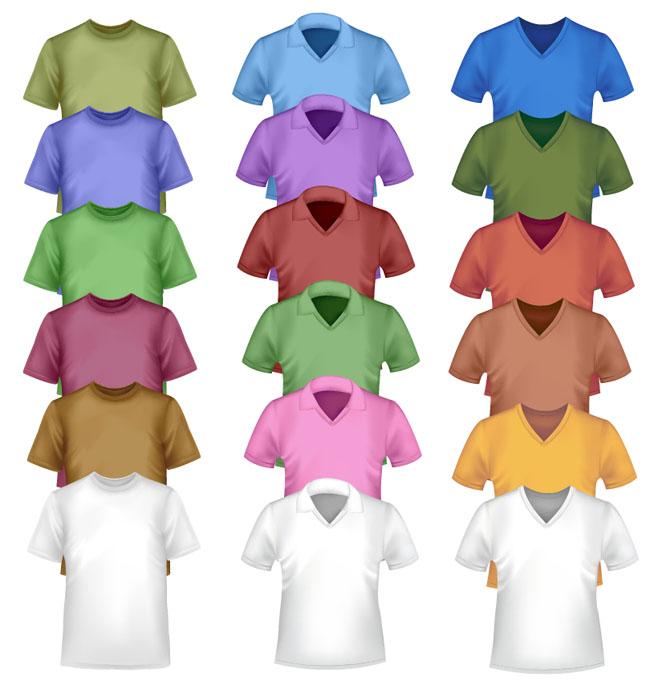 18-T-Shirt-Vector-Models-Set