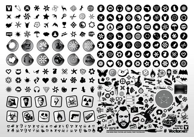 Black-White-Vector-Design-Icons