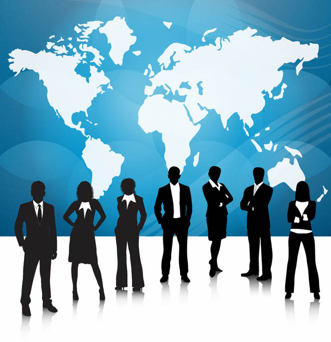 Business-People-Team-With-World-Map