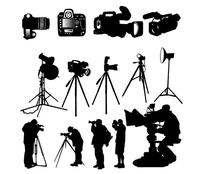 Camera-Photographer-silhouette-vector